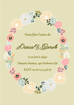 Flower Wreath Party Printable Wedding Invitations | BirdsParty.com