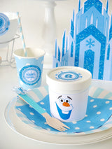 Free Frozen Inspired Olaf Party Printables Supplies & Decorations | BirdsParty.com