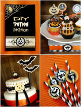 Halloween Spooky Party Printables Supplies & Decorations Kit with Invitations | BirdsParty.com