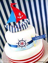 Nautical Birthday Party Printables Supplies & Decorations | BirdsParty.com