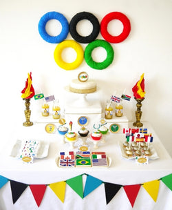 Olympics Party Printables Supplies & Decorations Kit with Invitations | BirdsParty.com