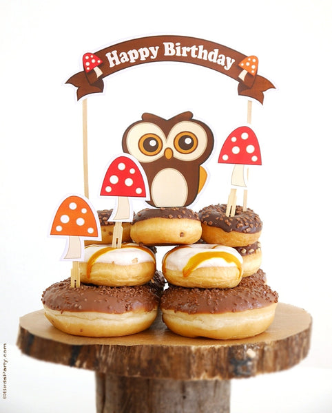 Woodland Birthday Party Printables Supplies & Decorations | BirdsParty.com