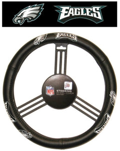 Philadelphia Eagles Steering Wheel Cover - Leather