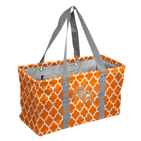 Sam Houston State Quatrefoil Picnic Caddy
