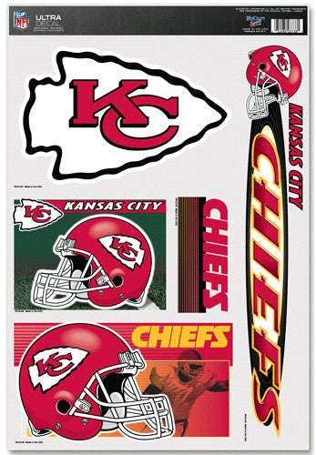 Kansas City Chiefs Decal 11x17 Ultra