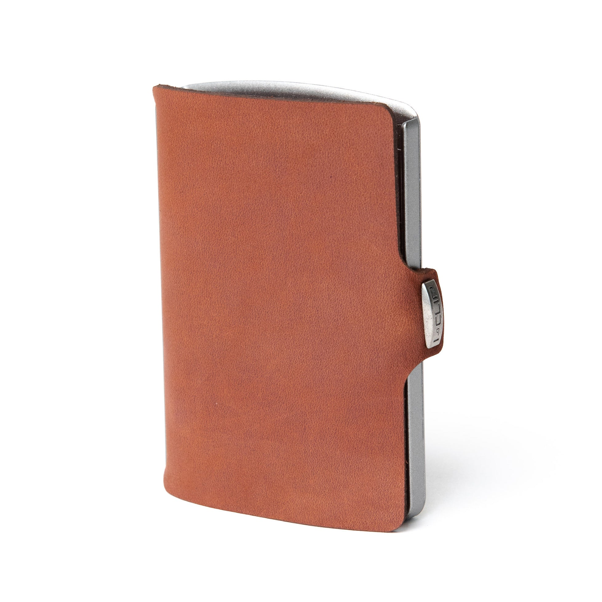 Soft Touch Leather - Oak / Metallic Gray Frame - I-CLIP