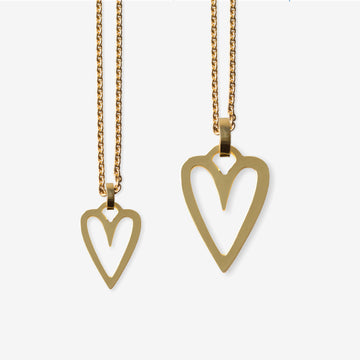 Hearts  Mother-Daughter. Gold plated