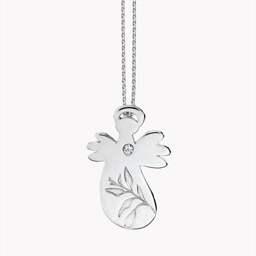 Leaf Angel pendant with chain