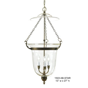 Brass Lantern and Pendant - 1503Pendant - Graham's Lighting Memphis, TN