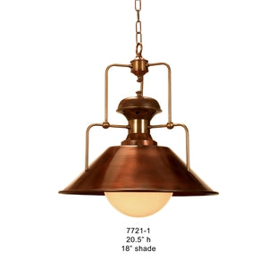 Brass Lantern and Pendant - 7721-1Pendant - Graham's Lighting Memphis, TN