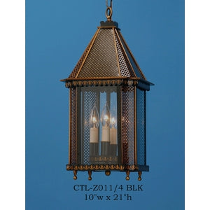 Other Metal Lantern and Pendant - CTL-Z011/4 BLKPendant - Graham's Lighting Memphis, TN