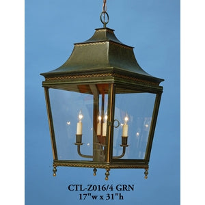 Other Metal Lantern and Pendant - CTL-Z016/S4 GRNPendant - Graham's Lighting Memphis, TN