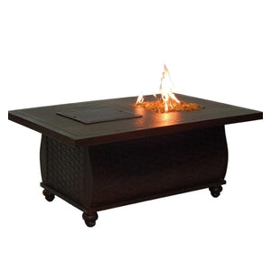French Quarter Rectangular Fire and Ice Coffee TableFire Pits - Graham's Lighting Memphis, TN
