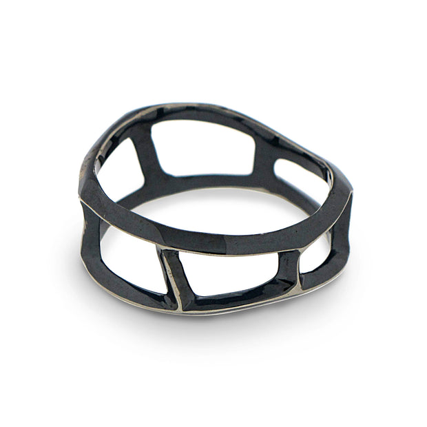 Dandy Black Band Ring
