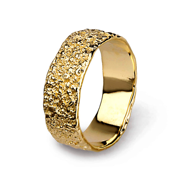 Antico Gold Wedding Band Ring