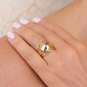Medusa Amethyst Gold Ring