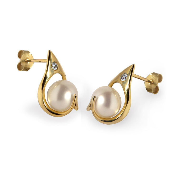 Ra Pearl Gold Earrings