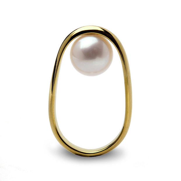 Overturn Pearl Gold Ring