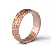Stardust Rose Gold Band Ring