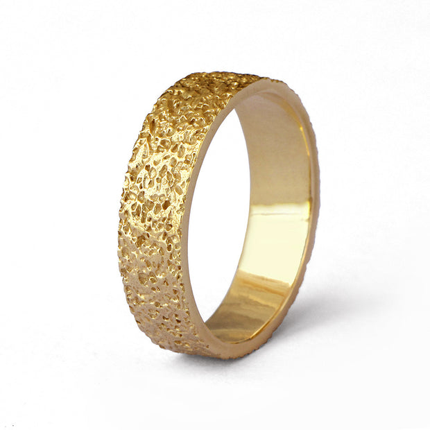 Stardust Gold Band Ring