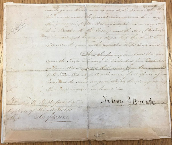 Admiral Nelson signed letter