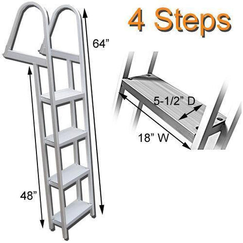 4 Step Traditional Dock or Pontoon Ladder