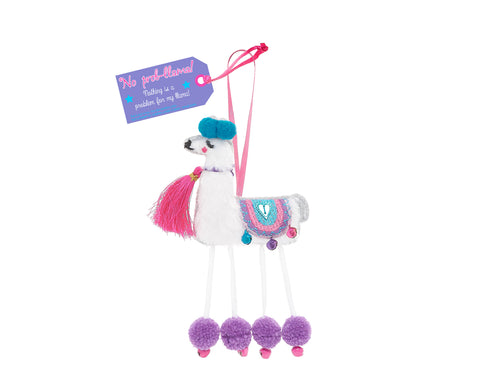 NO PROB-LLAMA HANGING DECORATION - by Believe You Can
