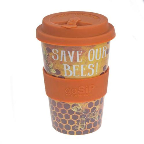 RICE HUSK REUSUABLE CUP - save our bees
