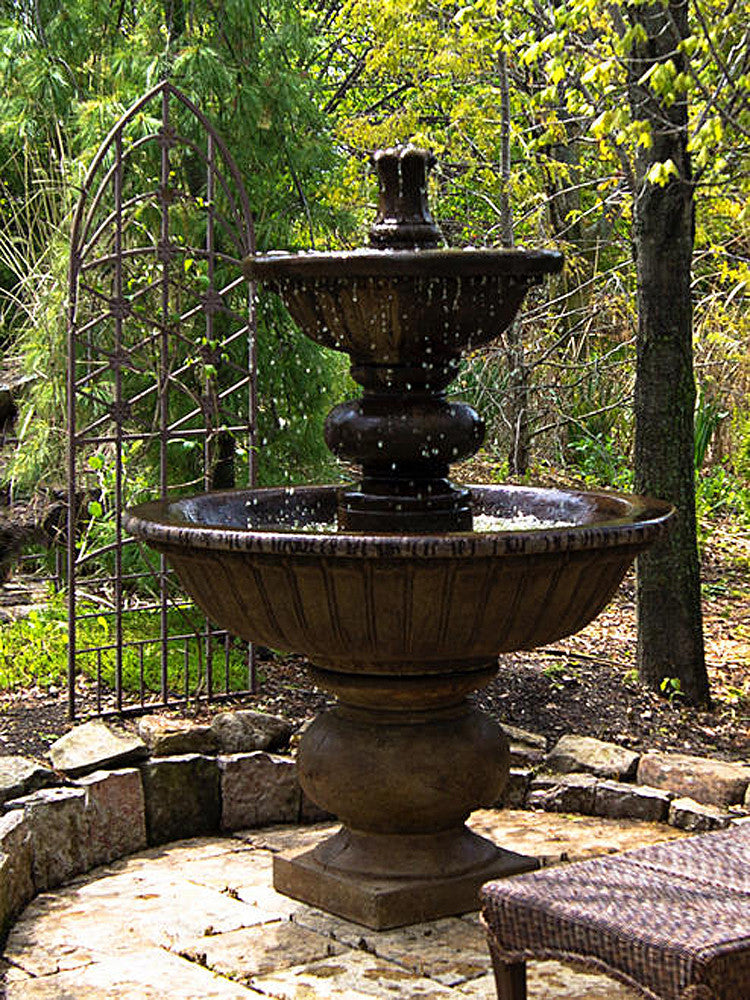 Siena Outdoor Water Fountain - Soothing Walls