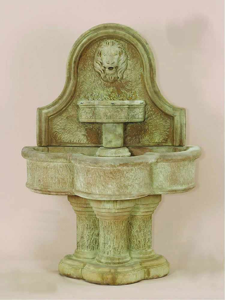 Luccan Lion Wall Outdoor Water Fountain - Soothing Walls