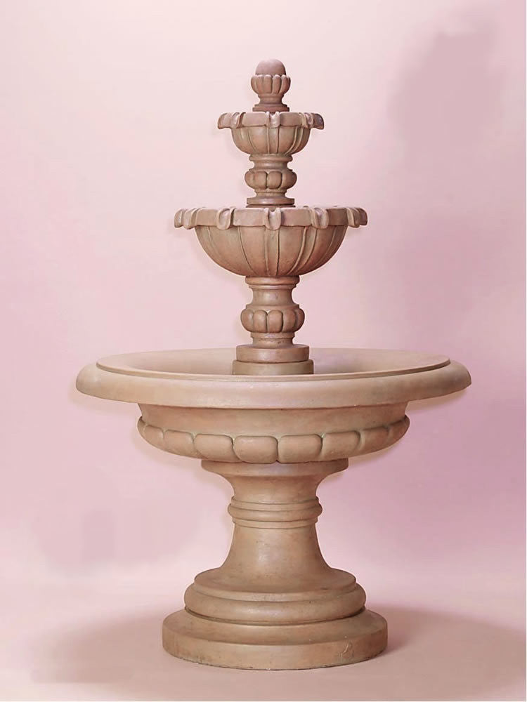 Padova Three Tier Outdoor Water Fountain - Soothing Walls