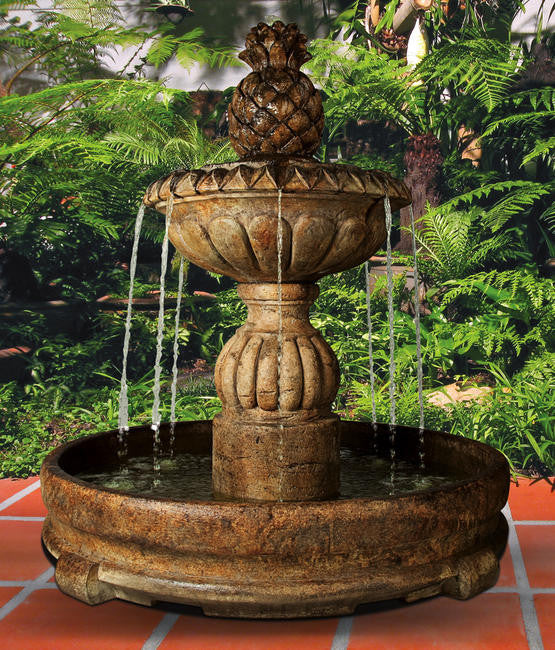 Piña Cascada Fountain in Rondo Pool - Soothing Walls