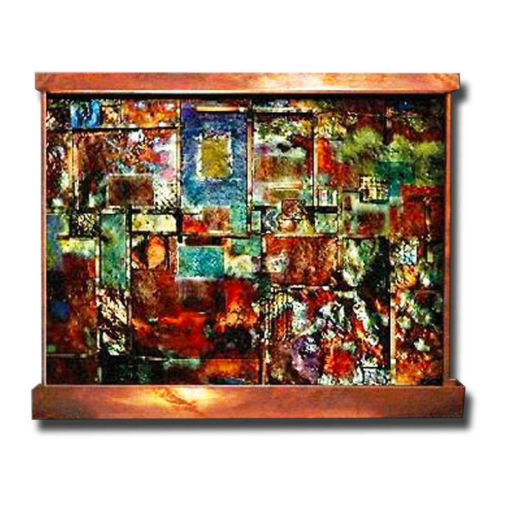 6' x 5' Copper Patchwork Wall Fountain - SoothingWalls