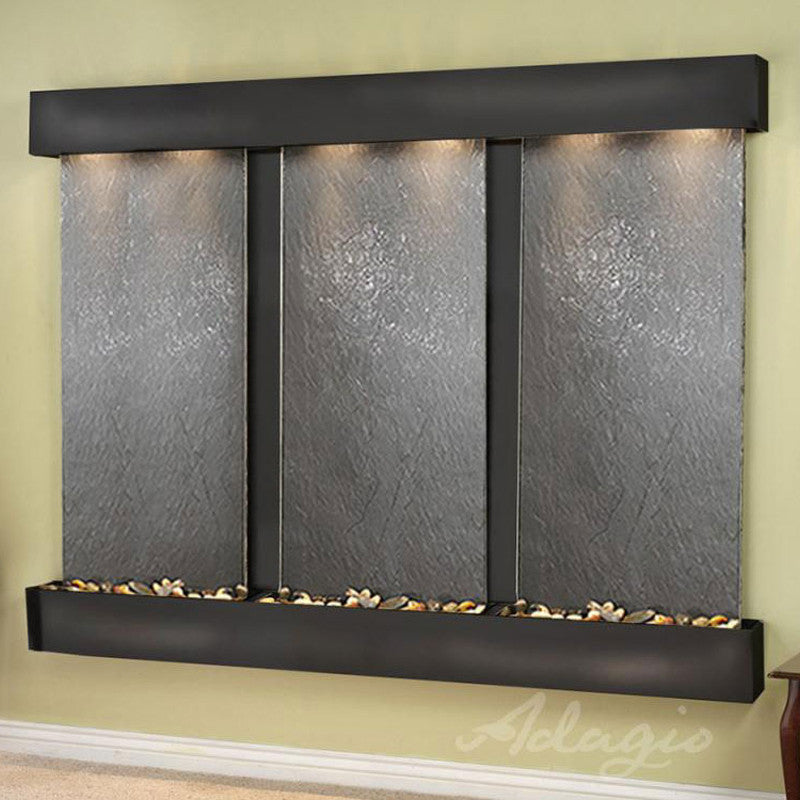 Deep Creek Falls: Black Featherstone and Blackened Copper Trim with Squared Corners