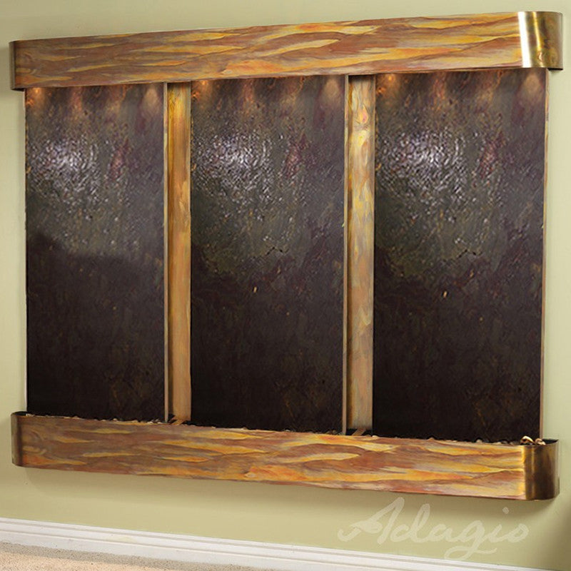 Deep Creek Falls: Multi-Color Featherstone and Rustic Copper Trim with Rounded Corners