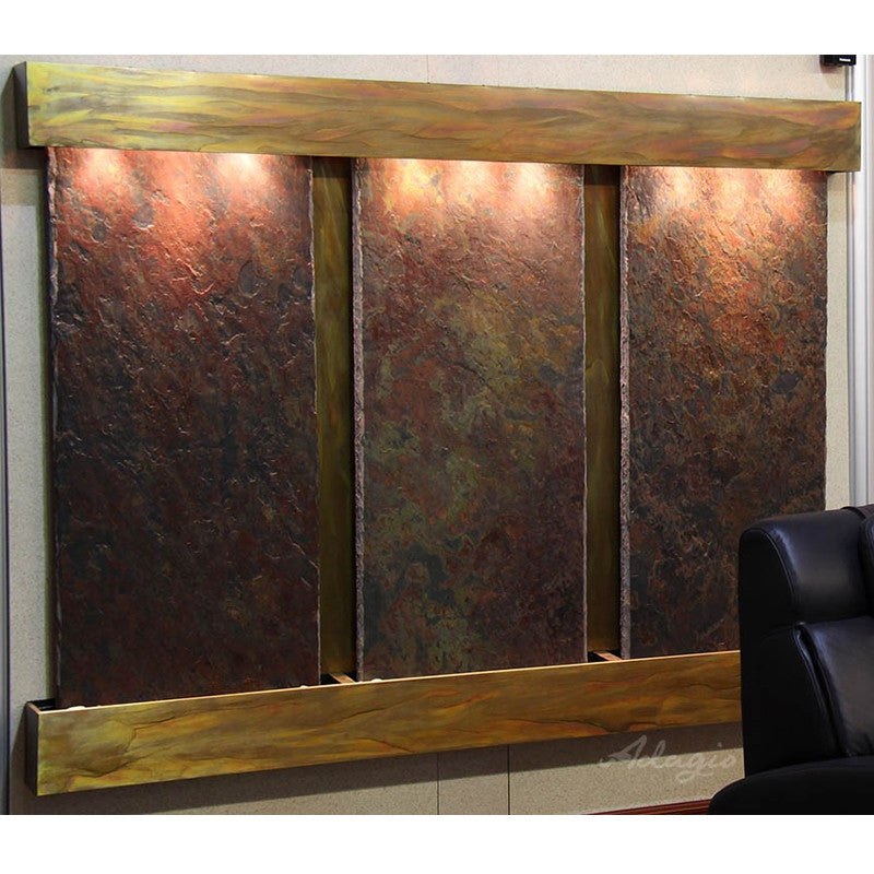 Deep Creek Falls: Multi-Color Slate and Rustic Copper Trim with Squared Corners
