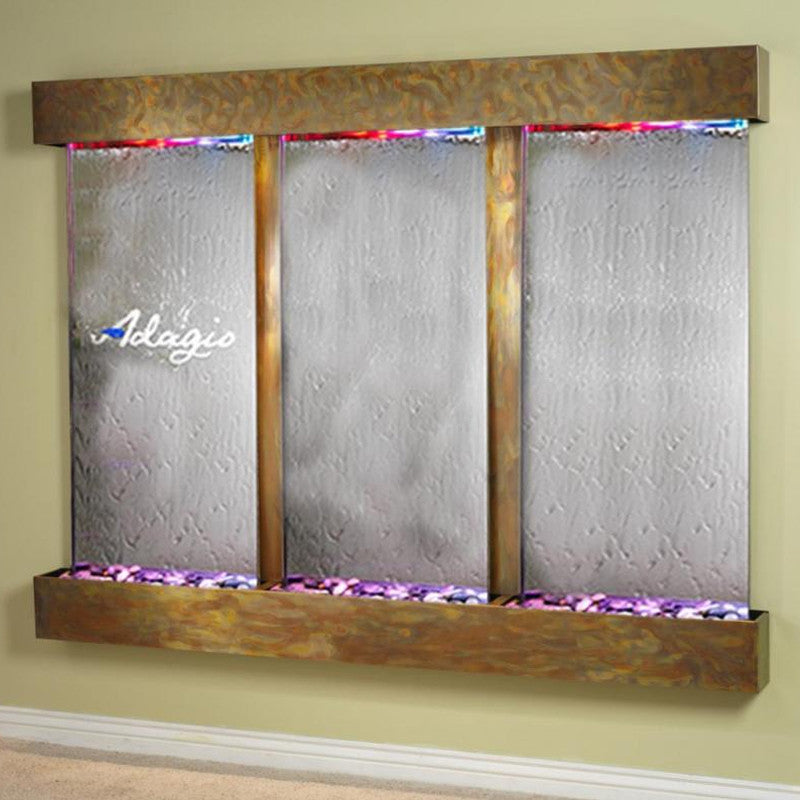 Deep Creek Falls: Silver Mirror and Rustic Copper Trim with Squared Corners