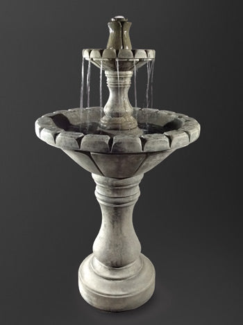 Small Dijon Garden Fountain - Soothing Walls