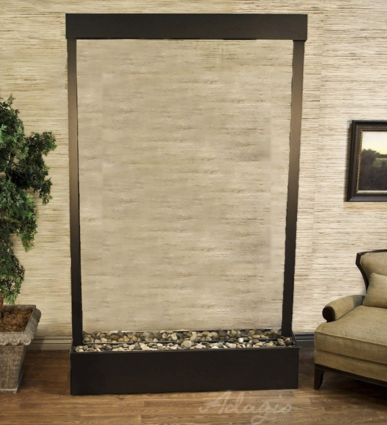 Grandeur River- Clear Glass - Antiqued Bronze - Soothing Walls