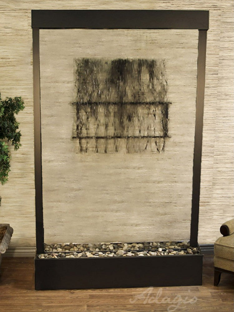 Grandeur River (Centered In Base) - Clear Glass - Antique Bronze - Soothing Walls