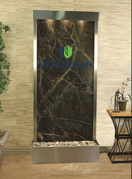 Harmony River Floor Fountain with Logo - Rear Mounted - Soothing Walls