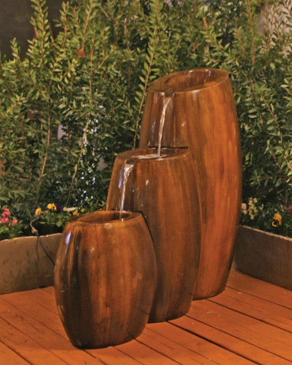 Hybrid 3-Part Garden Fountain - Soothing Walls