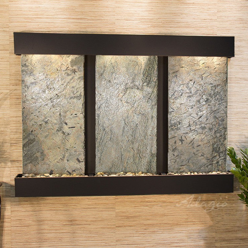 Olympus Falls: Green Slate and Blackened Copper Trim with Squared Corners