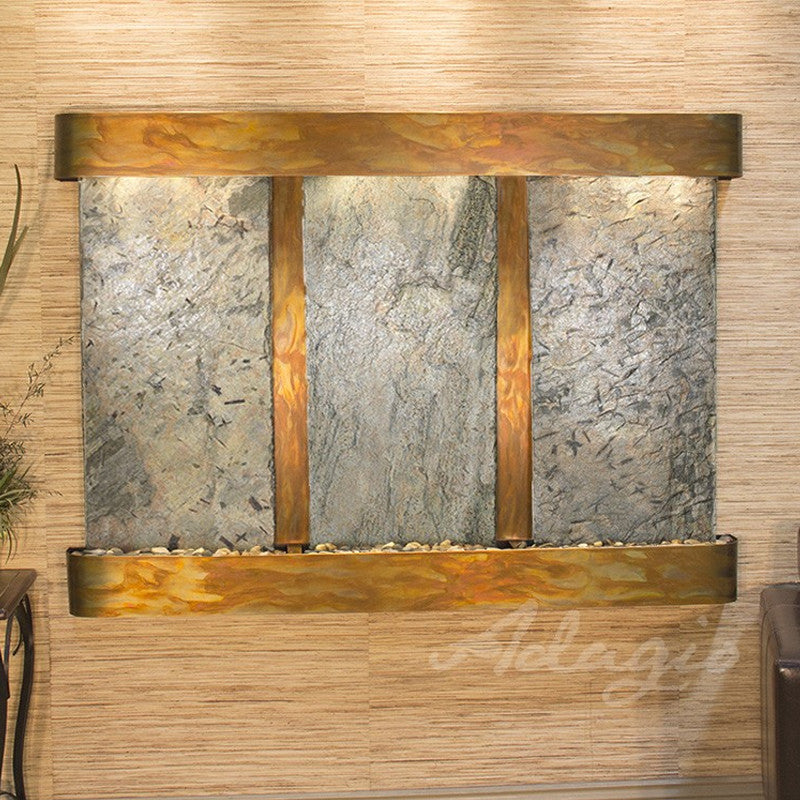 Olympus Falls: Green Slate and Rustic Copper Trim with Rounded Corners