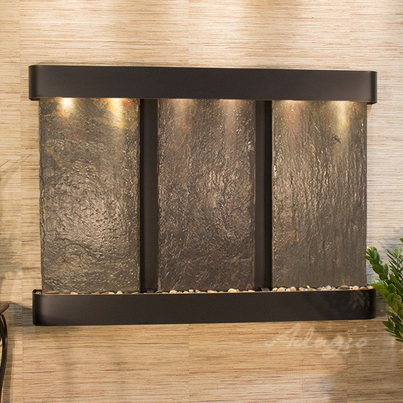 Olympus Falls: Multi-Color Slate and Blackened Copper Trim with Rounded Corners