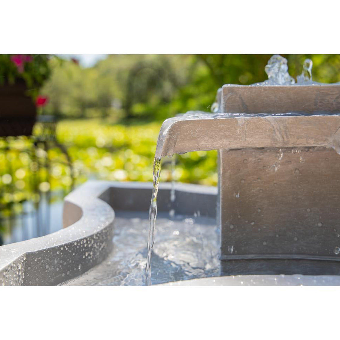 Quad Outdoor Floor Fountain - Soothing Walls