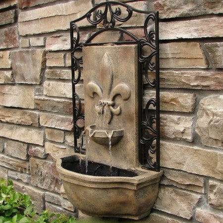 The Bordeaux Outdoor Wall Fountain - Soothing Walls