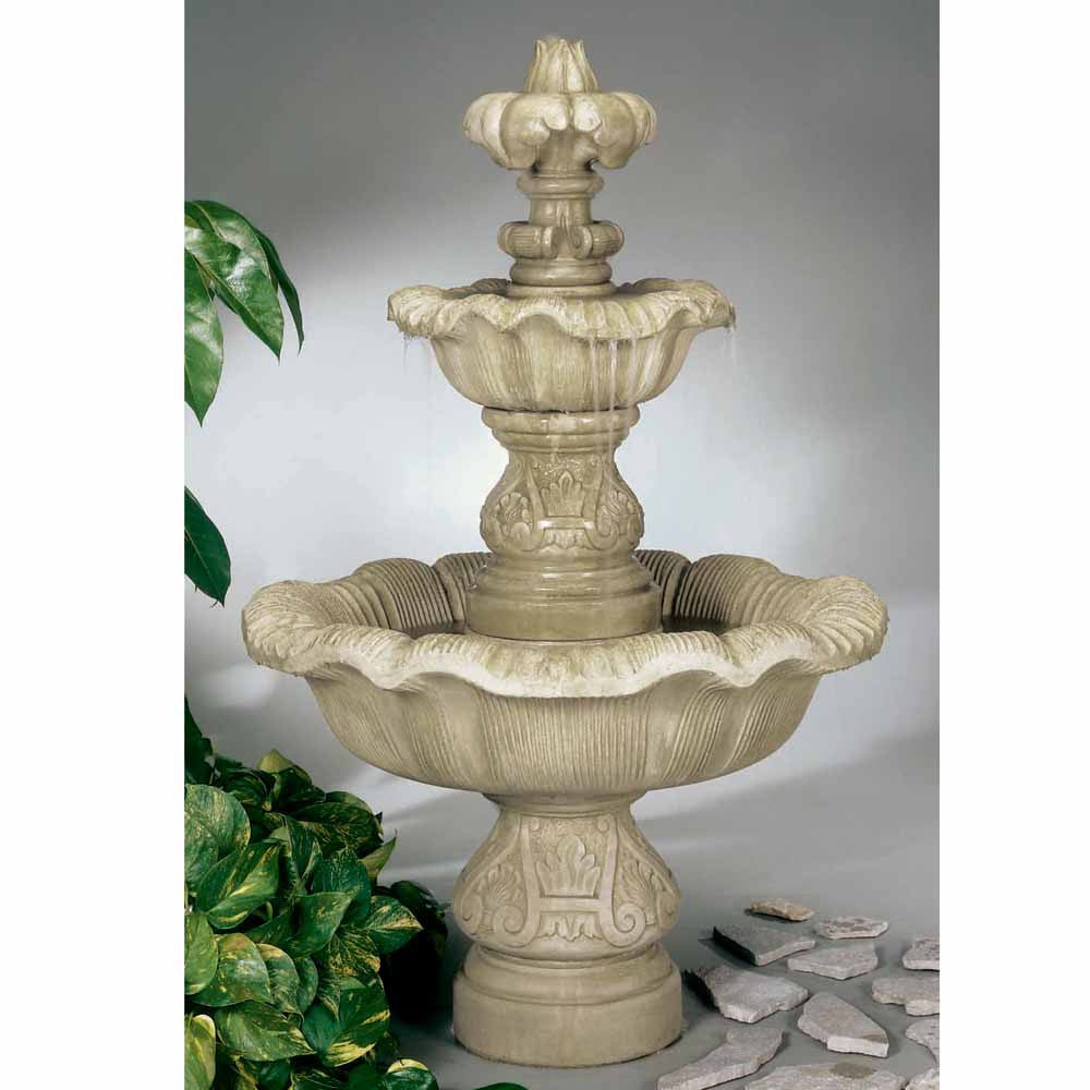 Two Tier Renaissance Outdoor Fountain - Soothing Walls