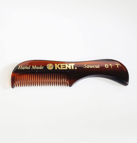 KENT 81T- Men's Moustache and Beard Comb(Small) 73 mm fine.