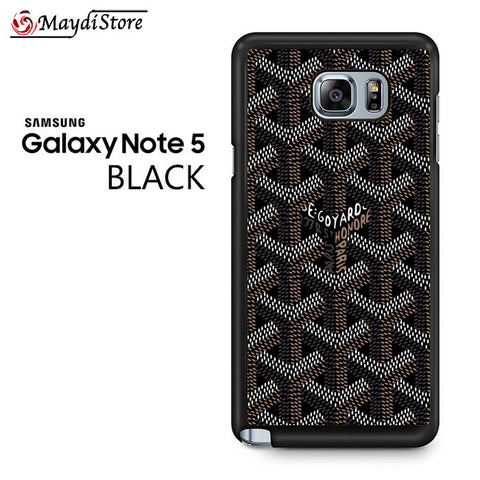 Goyard Black For Samsung Galaxy Note 5 Case